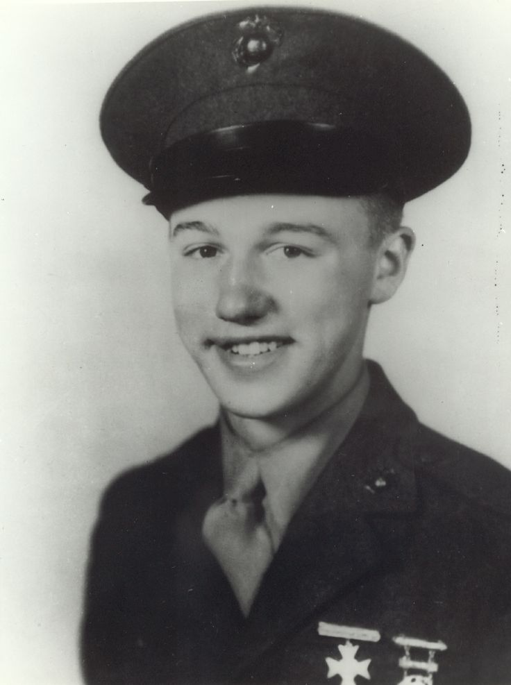 Private First Class Richard E. Kraus, US Marine Corps Medal of Honor recipient Battle of Peleliu, Palau Islands, World War II October 3, 1944. Namesake of USS Richard E. Kraus (DD-849).