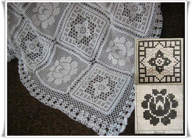 Free Crochet Rose Bedspread Pattern