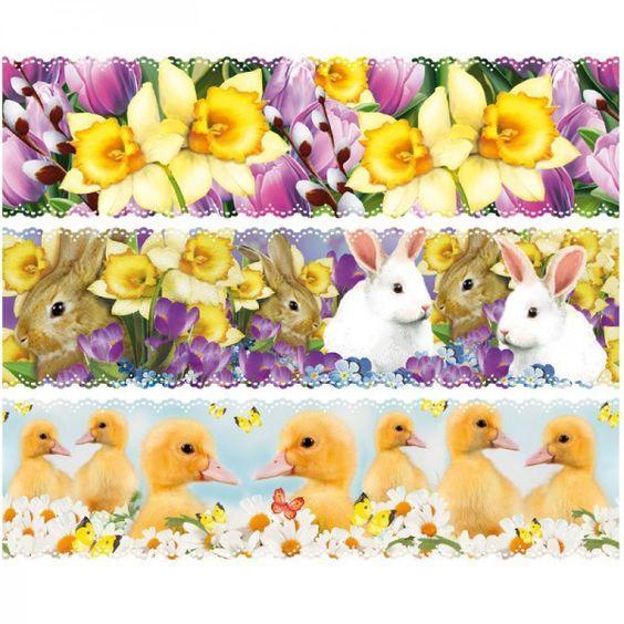 """Zauberfolien """"Osterfest"""", Schrumpffolien für Eier mit 10cm x 7,5cm, 6 Stück:"""