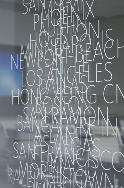 Environmental graphic identity by Gensler LA -