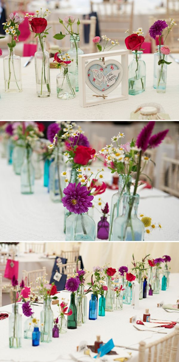flowers in bottles image by http://www.photographer-north-wales.com/
