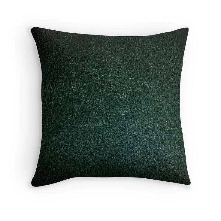Dark green leather texture abstract  by Arletta Cwalina
