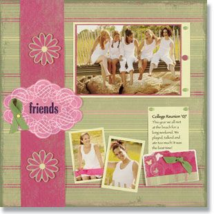 scrapbook ideas, scrapbooking layouts, friends