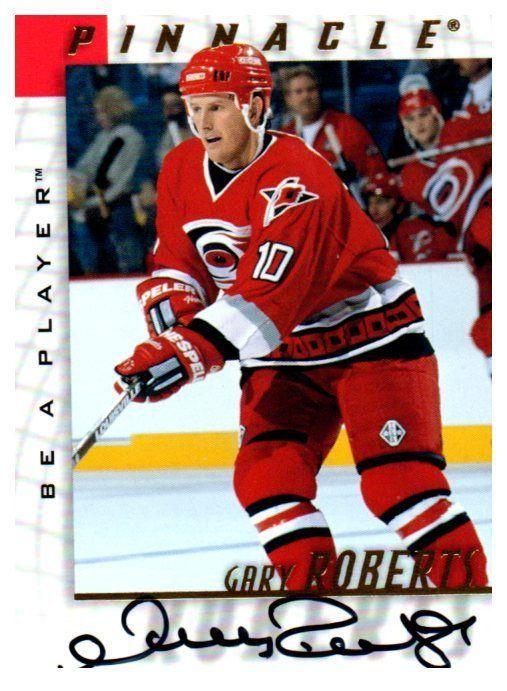1997-98 Be A Player Gary Roberts Autograph Card Carolina Hurricanes #CarolinaHurricanes