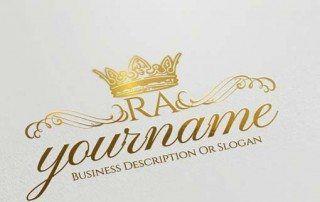 Best Alphabets Logo Create Vintage Crown logo design with the Free Logo Maker