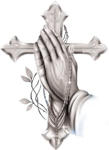 For you dear Bubba-Rosary with Praying Hands