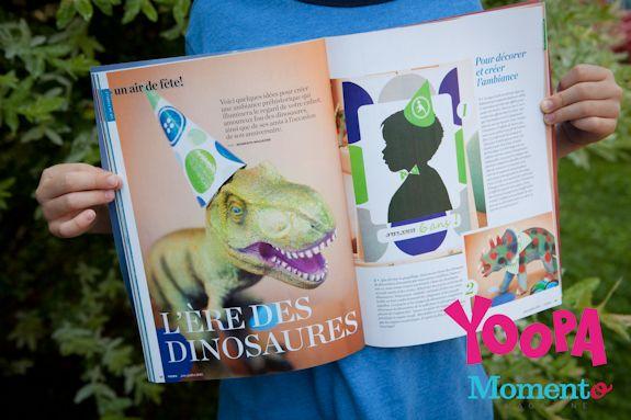 dinosaures party http://www.karinedontigny.com/category/publication/