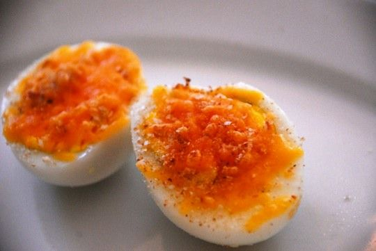 Grilled Cheese Hard-Boiled Eggs