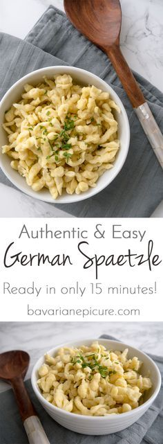 Authentic & Easy German Spaetzle Recipe - ready in only 15 minutes and a great side dish for all kinds of recipes!