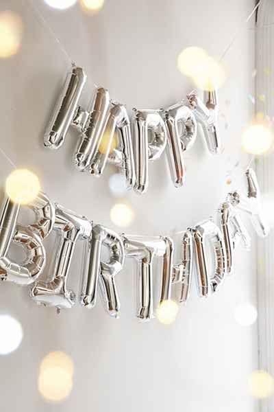 Happy Birthday Metallic Party Balloons