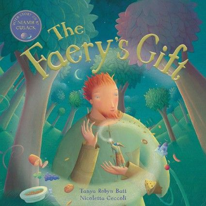 The Faery's Gift - In this heartwarming Irish fairy tale, a woodcutter is given a wish as a reward for saving the life of a small faery. The woodcutter faces a dilemma: how can he use the wish in a way that will help all members of his family and change all of their lives for the better? Includes storytime CD read by actress Niamh Cusack.