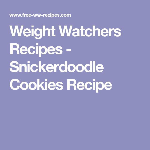 Weight Watchers Recipes - Snickerdoodle Cookies Recipe