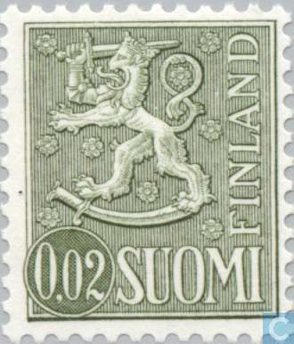 Stamps - Finland - Finnish lion. 1968