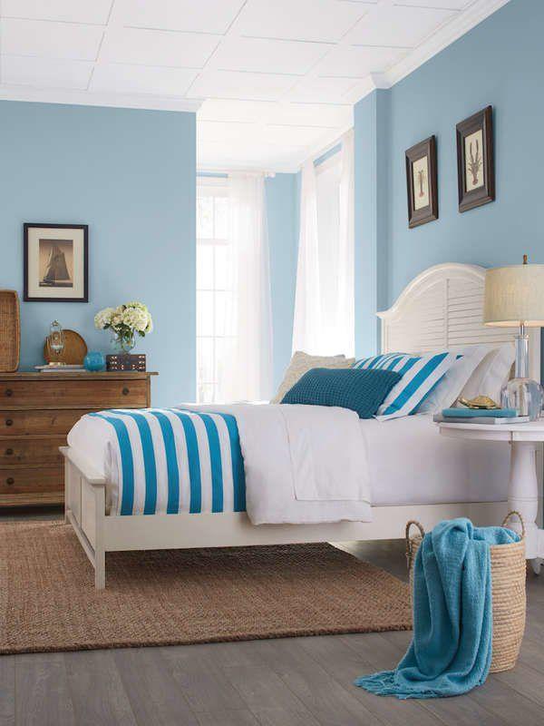 13 Reasons We Love Blue Bedrooms | Blue bedroom paint, Blue ...