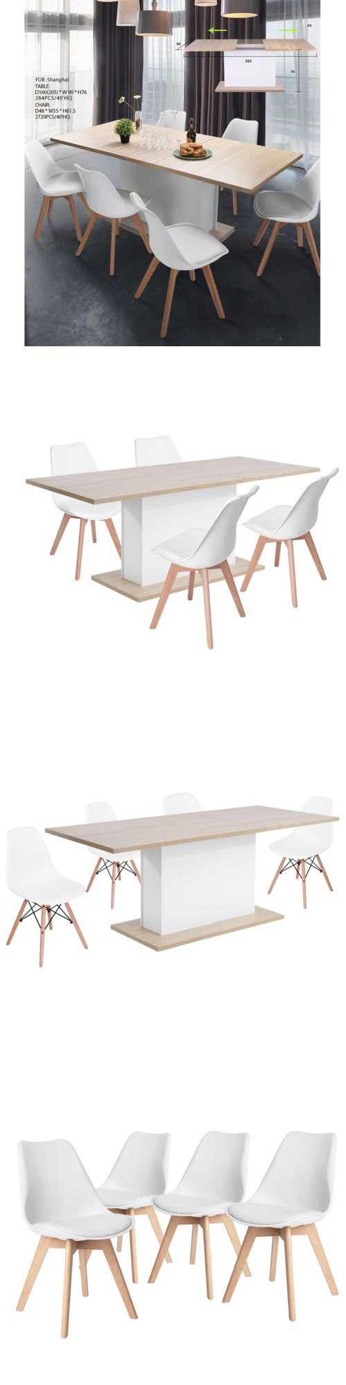 Malvern oak dining set ext table and 6 chairs oakea - Dining Sets 107578 Adjustable 6 8 Seaters Long Extendable Dining Meeting Wood Table And