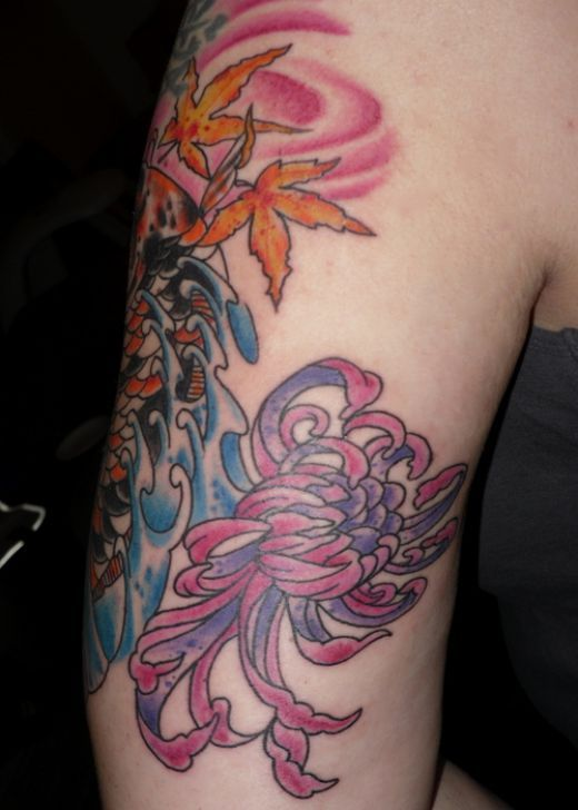 Extreme Floral Tattoo on Bicep