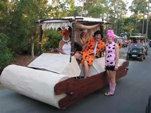 Decorate your golf cart for Halloween!  We love this Flintstones one...