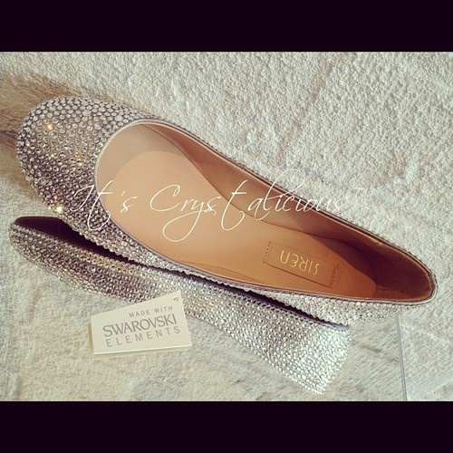 Crystalicious™ Ballet Flats Embellished With Genuine