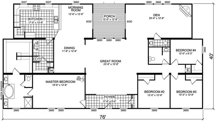 wide mobile home floor plans manufactured home and mobile home