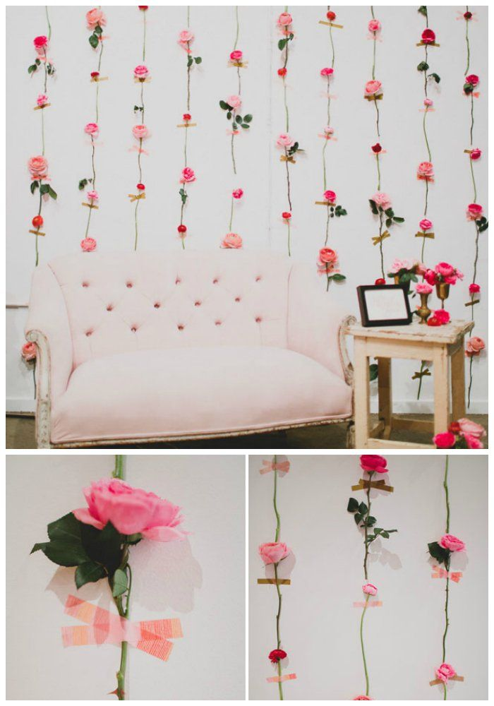 Fresh Flower Wall Photo Booth Backdrop | 14 Charming DIY Photo Booth Backdrops For Wedding - Inspired Bride