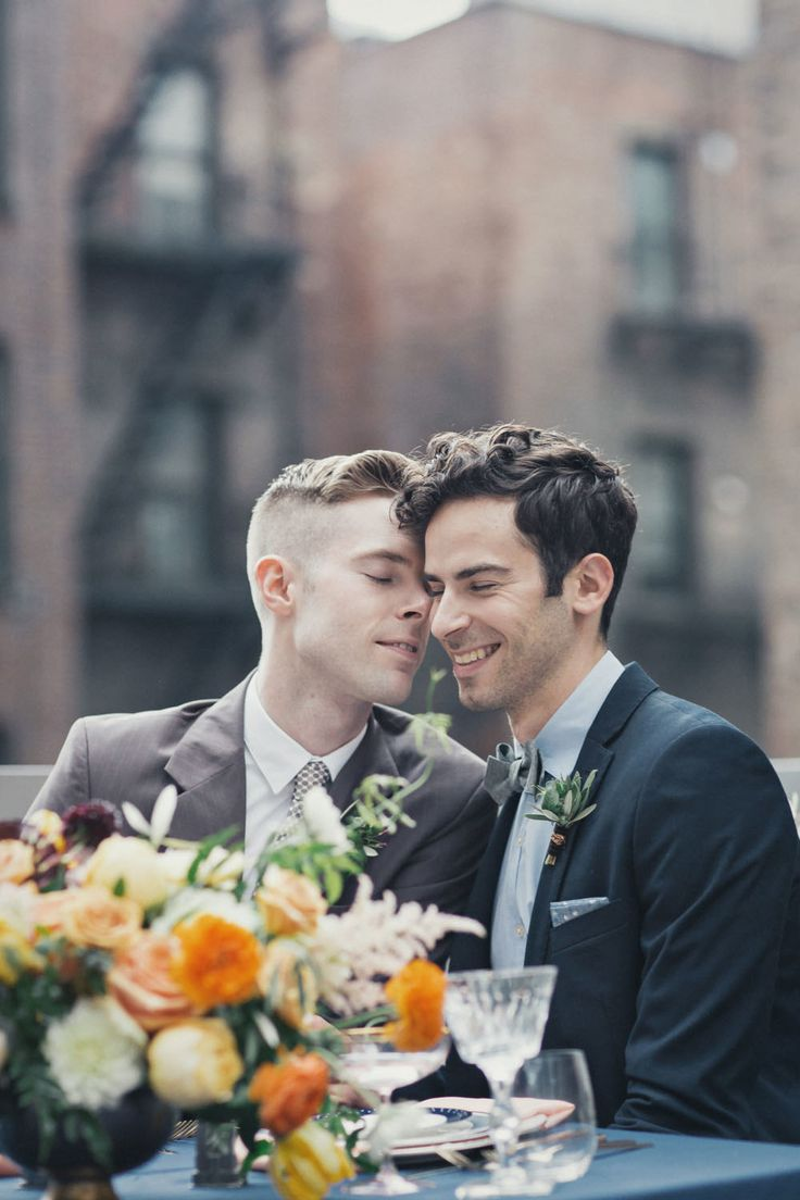 Andrew Riley & Brian Wescott's Vintage New York City Wedding (Photography: Clean Plate Pictures - www.cleanplatepictures.com) Read More: http://www.stylemepretty.com/2014/10/31/vintage-new-york-city-wedding-inspiration/