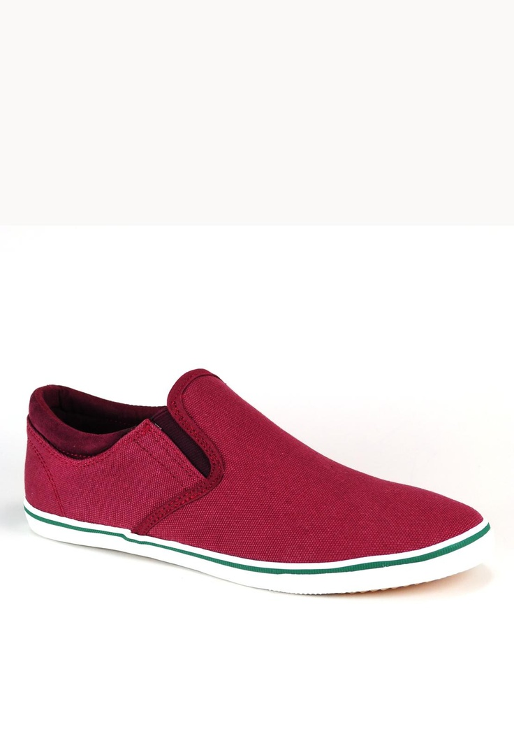 Pod Jetty Canvas Shoe, Burgundy | McElhinneys Online Department Store
