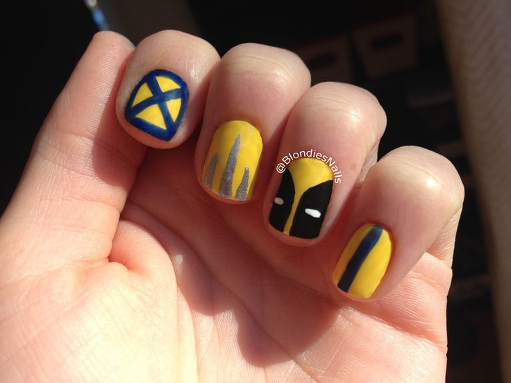Wolverine mani! #xmen #wolverine #nail #art #superhero