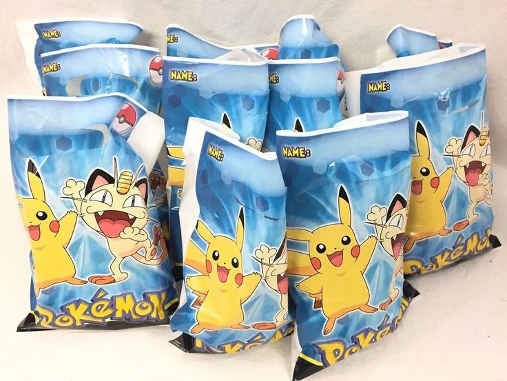 11 Filled Pokemon Goodies Bags Birthday Party Candy Pencils Cards Soccer Keyring #Pokemon #BirthdayChild