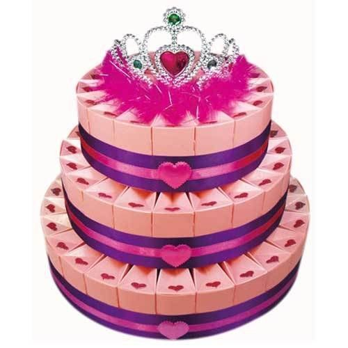 Three Tier Sweetheart Favor Cake Kit by Beau-coup