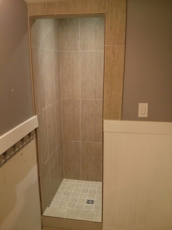 12x24 Vertical Stacked Shower Shower Floor Tile Shower
