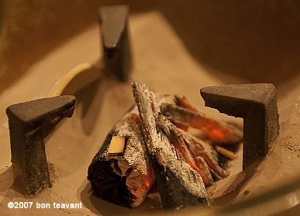 An integral part of the Japanese tea ceremony is the building and also cleaning of a charcoal fire