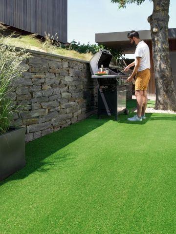 une terrasse en gazon synth tique terrasses et balcons pinterest terrasses gazon. Black Bedroom Furniture Sets. Home Design Ideas