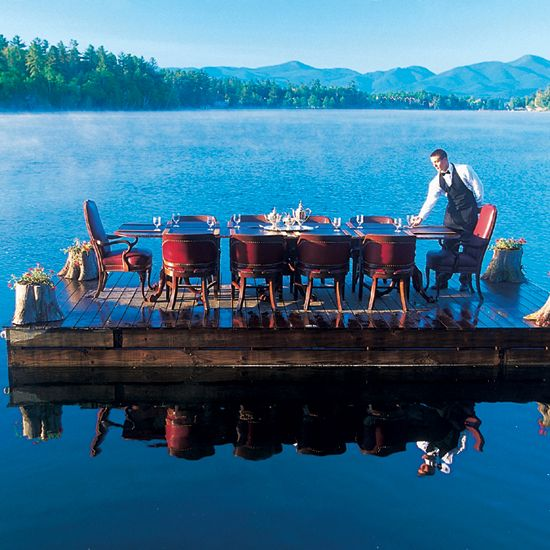 World's Best Restaurant Views: The View Restaurant, Mirror Lake Inn