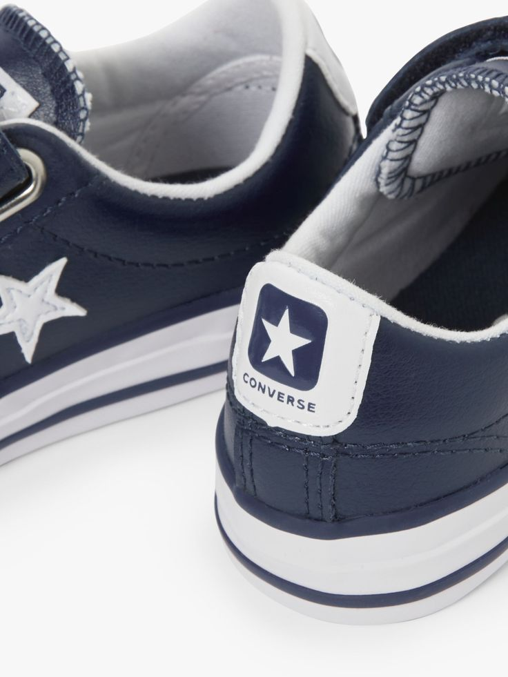Converse Children's All Star 3V Leather Low Top Riptape