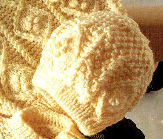 PDF Vintage Pretty Baby 'ARAN' Knitting by TheAtticofKitsch