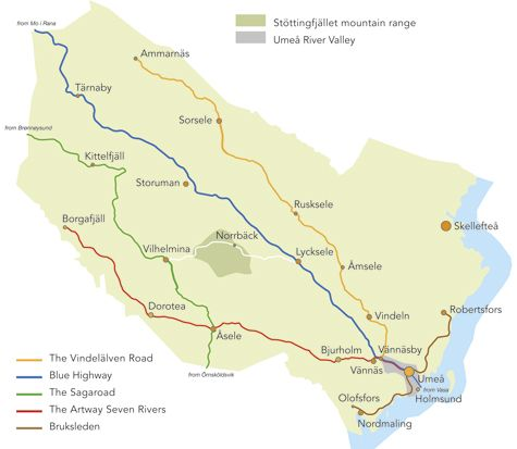 map with roads and tours