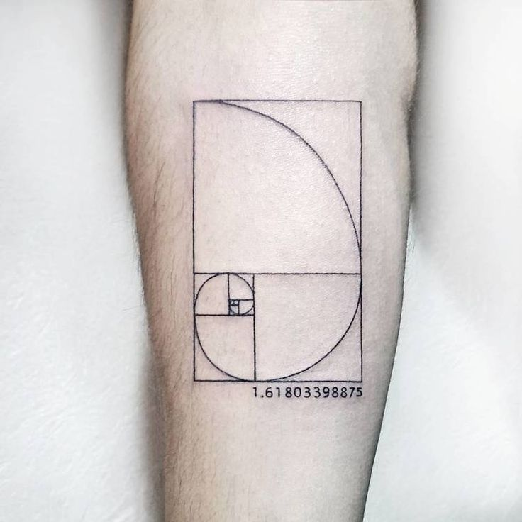 40 Amazing Fibonacci Tattoo Designs