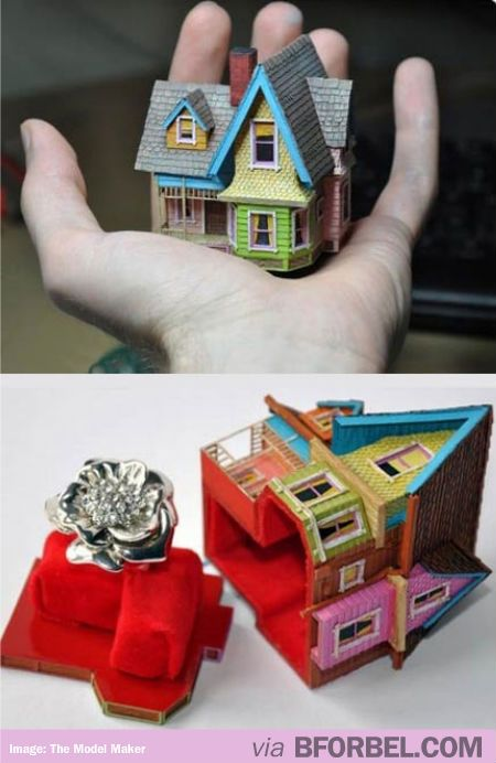 """Pixar's """"UP"""" House Engagement Ring Box, If a boy proposed to me with this box I would totally say yes!!!q"""
