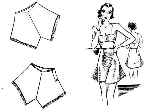 1930's tutorial for making underwear https://amybarickman.com/wordpress/wp-content/uploads/2011/07/Underthingsareskimpy.pdf
