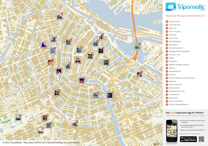 Amsterdam tourist map! perfect for biking