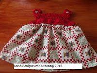 baby jurkje met gehaakt pasje maat 0-3 maanden