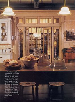 Practical Magic house: from the kitchen out to the conservatory.