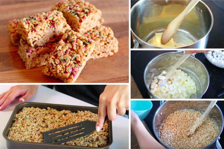 De savoureuses barres croustillantes aux Rice Krispies