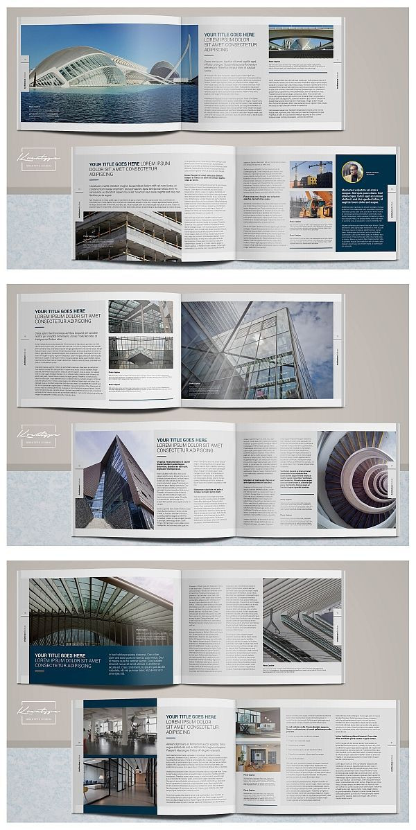 100 Free Premium Brochure Design Psd Templates Architecture