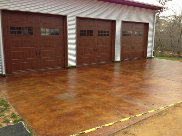 Stain your shop and garage floors with superior stained for Garage ad stains