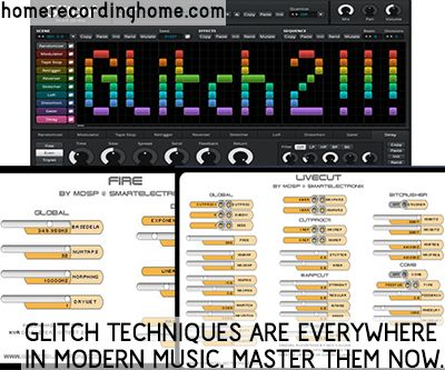 Glitch techniques are everywhere in modern music. Master them now.  http://homerecordinghome.com/glitch-production-techniques/
