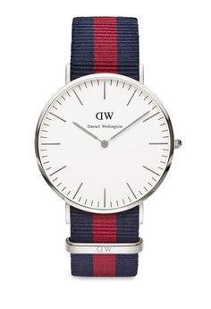 Classic Oxford Silver Watch from Daniel Wellington in red and blue and multi and navy_1