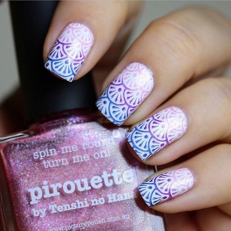 108 best Nails- Stamp Art images on Pinterest | Fingernail designs ...