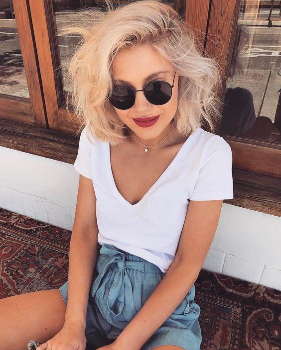 30 Locken Frisuren für mittlere Haare 2018