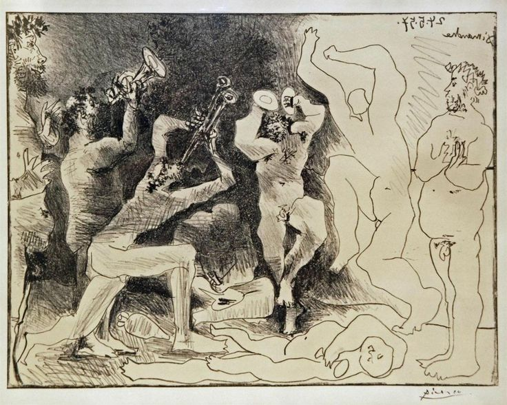 best classics essay images oil on canvas oil  pablo picasso spanish 1881 1973 lithograph titled le danse de faunes